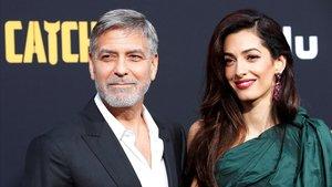 George y Amal Clooney, el pasado martes en el estreno en Los Ángeles.