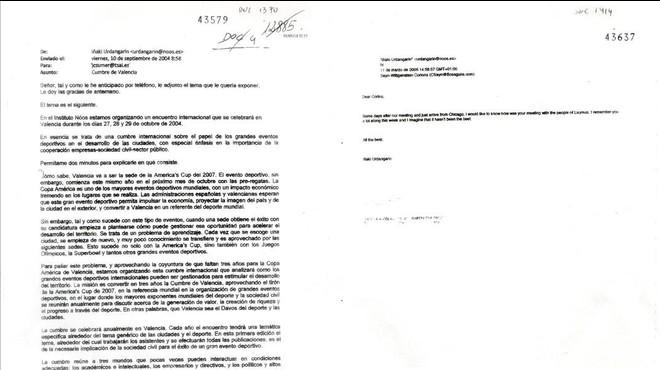 El tribunal acepta como pruebas correos de Urdangarín a su suegro y a Corinna