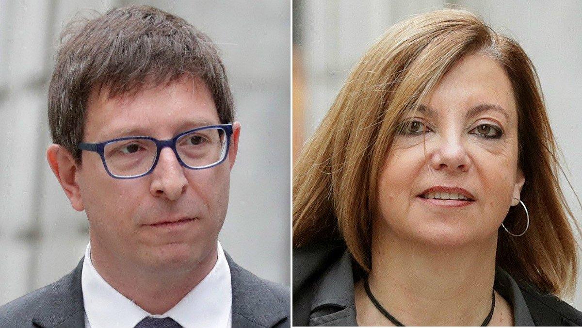 Los 'exconsellers' Carles Mundó y Meritxell Borràs.