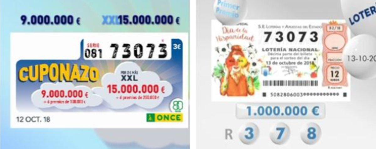 Mai s'havia vist: el 73.073 ha sigut primer premi en dos sortejos del cap de setmana