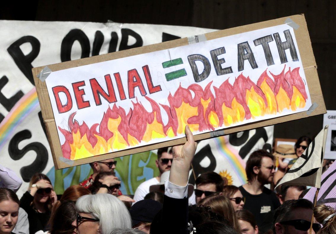 Manifestaciones en defensa del clima, este viernes en Tasmania (Australia).