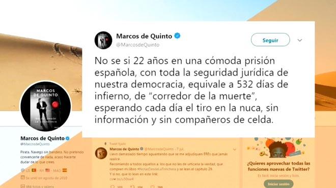 Marcos de Quinto critica por blanda la pena al secuestrador de Ortega Lara.