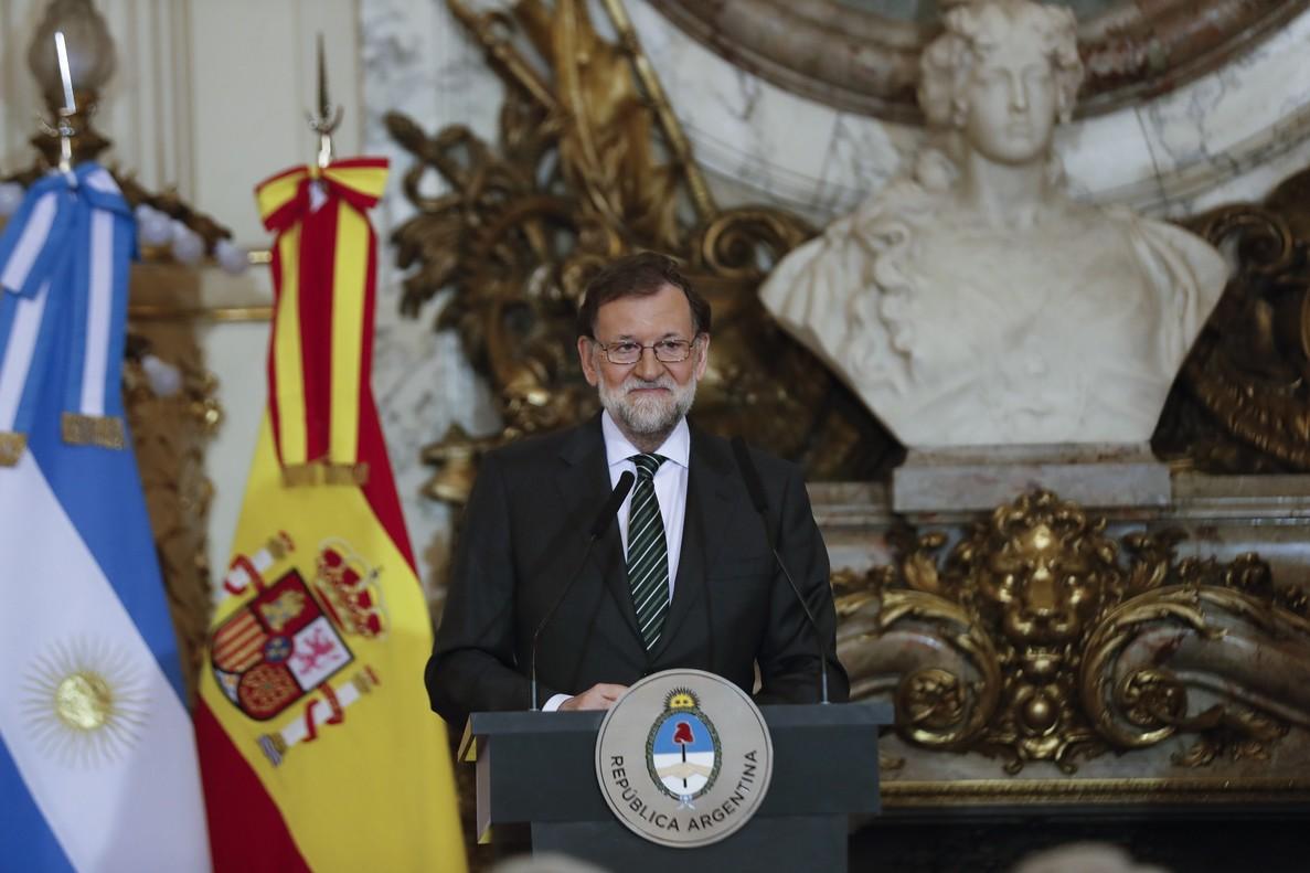 Mariano Rajoy, desde la Casa Rosada.