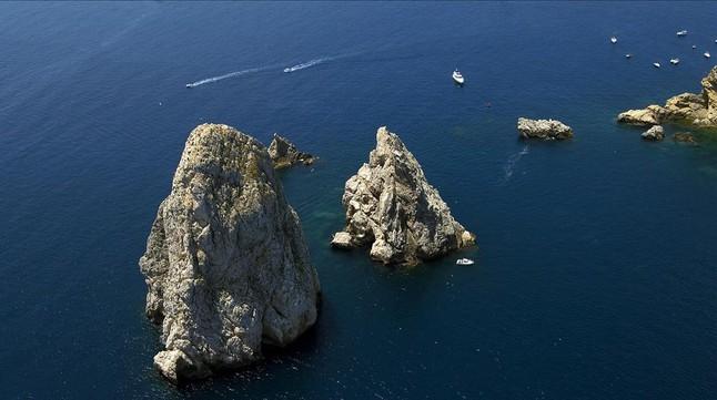 Vista aérea de las islas Medes