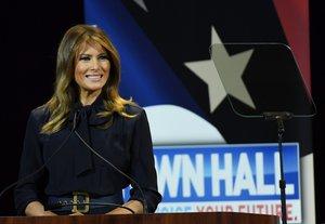 Melania Trump, la Primera Dama de los Estados Unidos. AFP