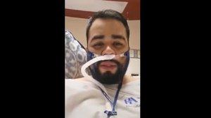 El enfermero mexicanoSergio Humberto Padilla Hernández, en una captura del vídeo que grabó.