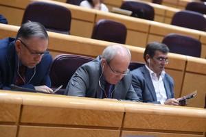 El senador del PSC JoséMontilladurante un pleno en el Senado.