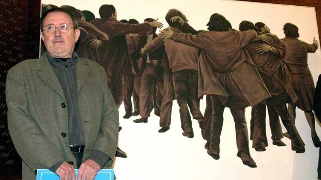 Muere el artista Juan Genovés, autor de 'El abrazo'.