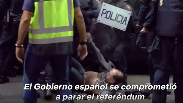 Netflix promociona 'Black mirror' amb imatges de l'1-O i Rajoy