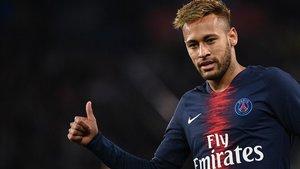 Neymar, en el Paris SG.