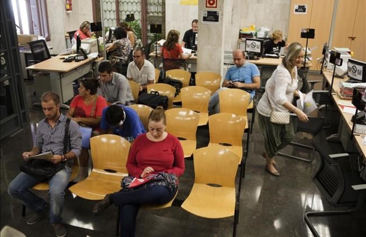 Oficina de la Seguridad Social en Barcelona.