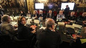 Reunión de la Junta de Seguretat, el lunes,enBarcelona.