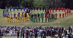 La ceremonia del 2016 previa a los Juegos de Río.