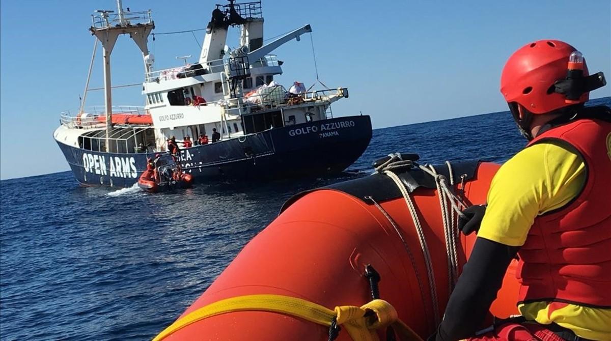 El Golfo Azzurro, en aguas del Mediterráneo central.