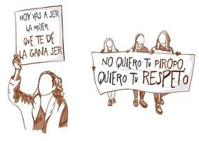 Ilustraciones de las pancartas de las manifestaciones del 8-M