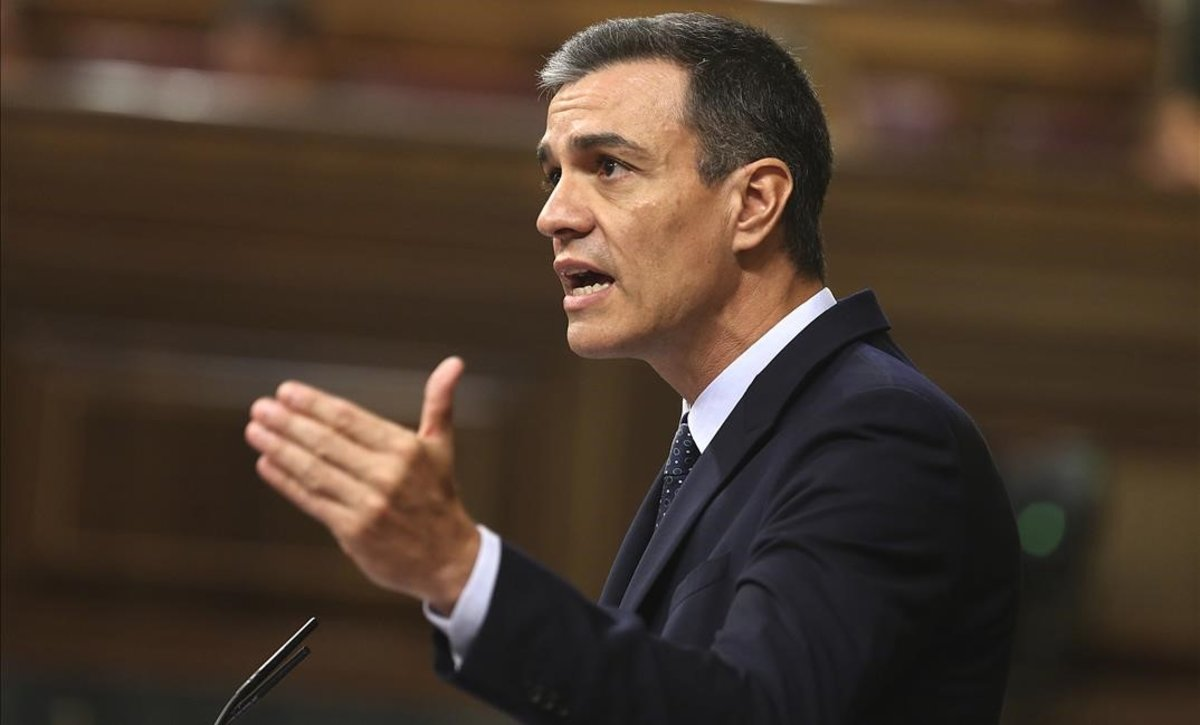 El candidato a la presidencia, Pedro Sánchez, este martes.