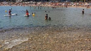 La playa de Sitges.
