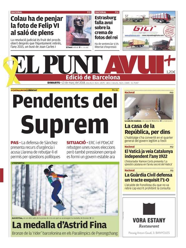 Los diarios más de derechas jalean la inconstitucional cadena perpetua