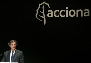 El president d'Acciona, José Manuel Entrecanales, durant una junta general del grup.