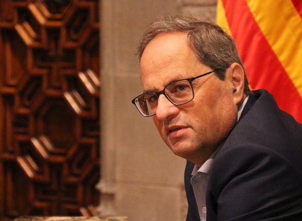 El 'president', Quim Torra, en el Palau de la Generalitat.