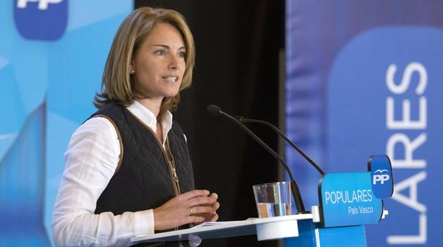 La presidenta del PP vasco, Arantza Quiroga, en una imagen de archivo.