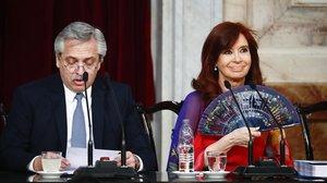 El presidente Alberto Fernández y la vicepresidenta Cristina Fernández de Kirchner.