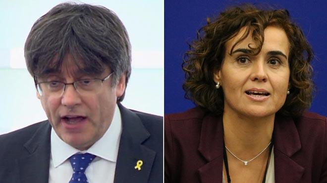 Xoc entre Puigdemont i Montserrat al Parlament Europeu