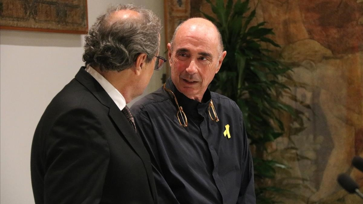 El 'president' Torra junto a Lluís Llach.