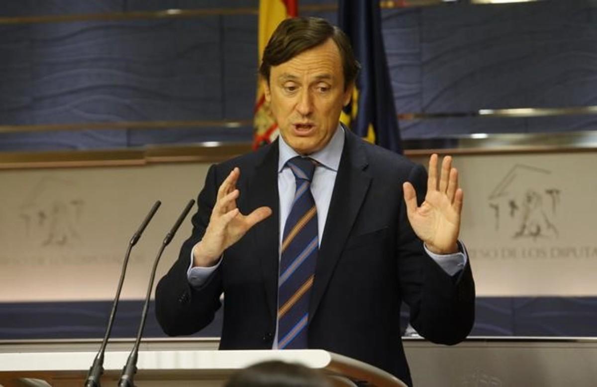 Rafael Hernando, en una rueda de prensa.