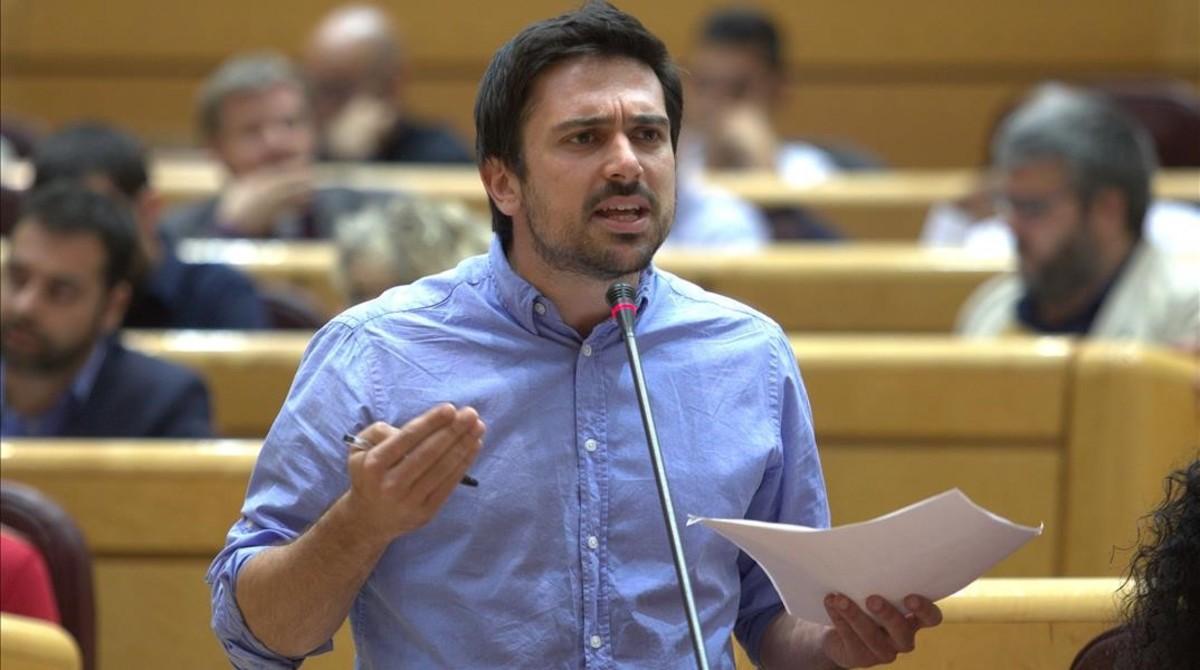 Ramón Espinar, en una de sus intervenciones en el Senado.