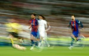 Recreación con arte de la jugada del tercer gol azulgrana.
