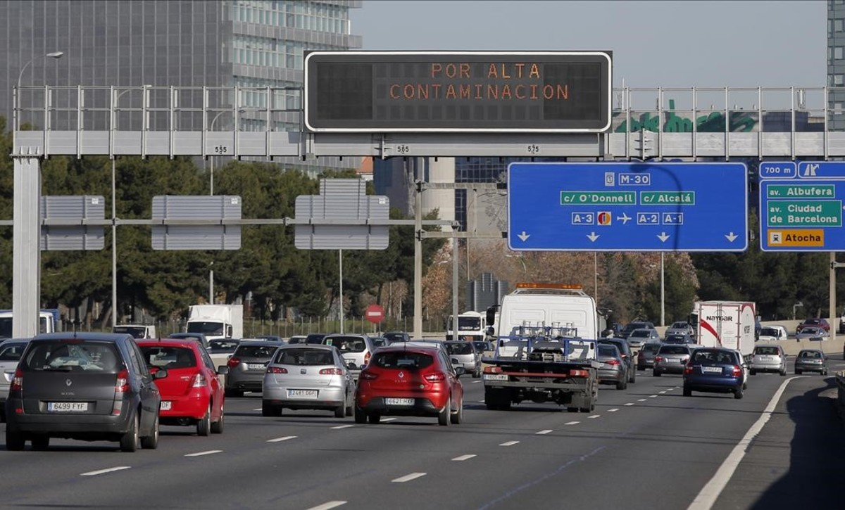 Restricciones por contaminación en la M-30 madrileña.