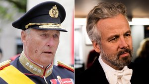 El rey Harald de Noruega y Ari Behn.