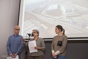 Rueda de prensa para explicar con detalle el proyecto de mejora de la carretera C-17 con la concejala de Urbanismo, Rosa Martí.