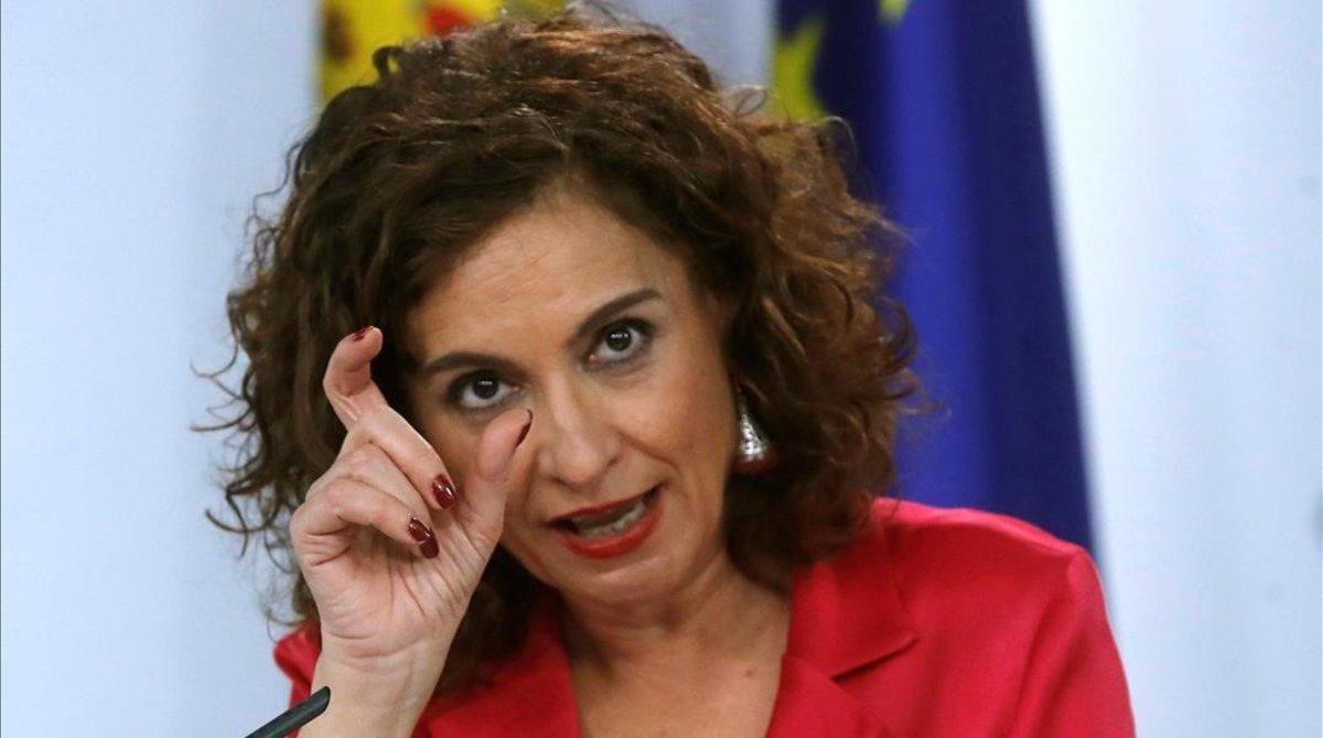 La ministra de Hacienda, María Jesús Montero, tras el Consejo de Ministros del 11 de febrero.