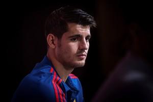 El delantero de la selección española Álvaro Morata en rueda de prensa este martes.