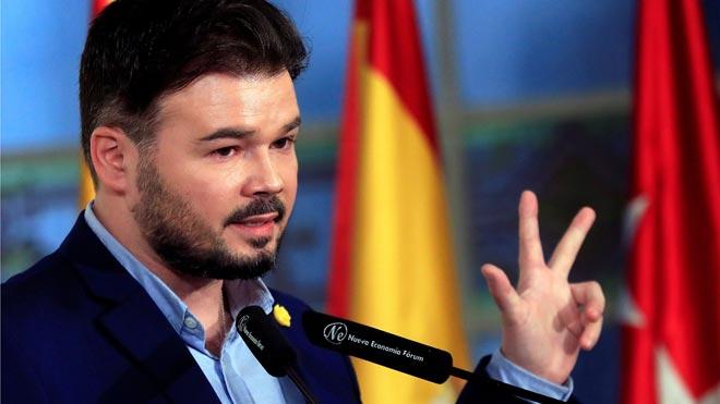 Rufián avisa Puigdemont: el dilema és diàleg o «màgia, fum, dreceres i simbolisme»