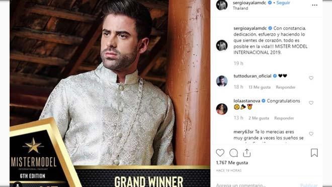 Sergio Ayala, campeón de Mister Model International 2019.