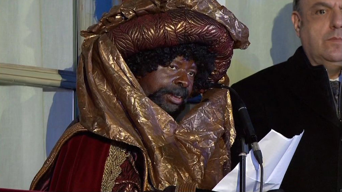 El rey Baltasar, en la cabalgata de Manresa (TV-3).