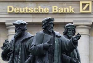 Sede del Deutshce Bank ren Fráncfort.