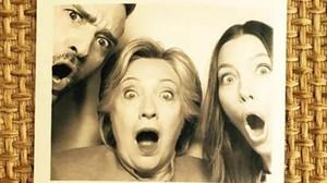 Justin Timberlake, Hillary Clinton y JessicaBiel.