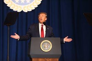 El presidente de los Estados Unidos, Donald Trump, en un acto público. EFE
