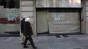 Un establecimiento cerrado en la ciudad de Barcelona.