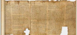 Uno de los manuscritos digitalizados del Mar Muerto.