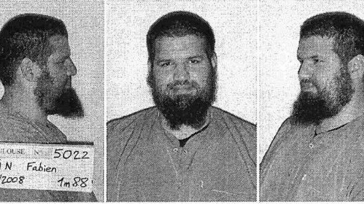 Fotografía sin fechar cedida porla Interpol que muestra al yihadista francés Fabien Clain.