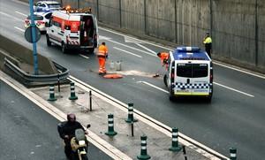 Mor un motorista a la Ronda Litoral de Barcelona