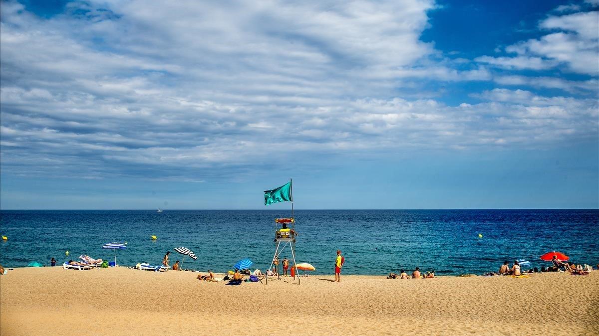 Imagen de la playa de Platja d'Aro.