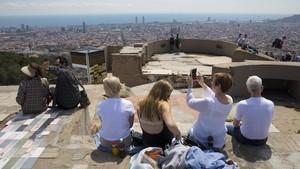 Vistas desde el Turó de la Rovira, uno de los mejores miradores dela ciudad.