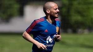 Silva, en el entrenamiento de Krasnodar.