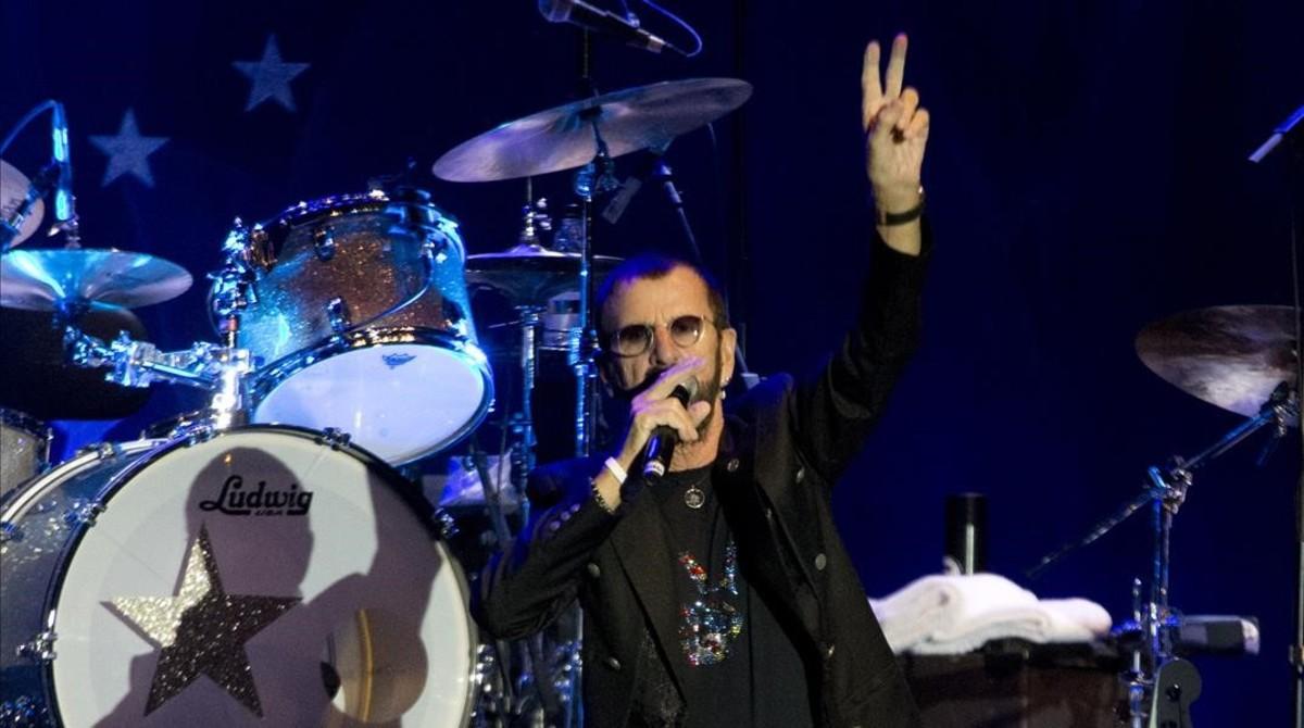 Ringo Starr, el pasado sábado en Tel Aviv.